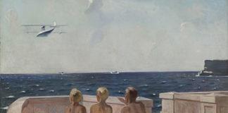 Aleksandr Deineka. Futuri aviatori, 1938olio su tela, cm 131,5 х 160Galleria Statale Tret'jakov, Mosca