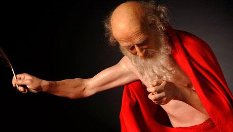 San Girolamo – Modello di San Girolamo scrivente. Dimensione naturale, gomma siliconica, resina poliestere, 2010 Plastikart Studio