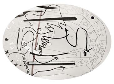 MARCO NEREO ROTELLI, Graal, 2010-2011, smalto su acciaio, n. 5 lastre ovali 100x200 cm