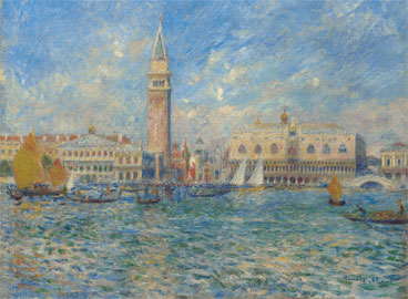Pierre-Auguste Renoir, Venezia, Palazzo Ducale, 1881, Olio su tela, 54,5 x 65,7 cm, Acquistato da Sterling e Francine Clark, 1933, Sterling and Francine, Clark Art Institute, Williamstown, Massachusetts, USA, 1955.596, Photo by Michael Agee © Sterling and Francine Clark Art Institute, Williamstown, Massachusetts, USA.