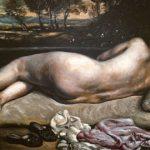 Giorgio De Chirico, Nudo coricato (Sera d'estate) Olio (tempera all'uovo) su tela, 65x84 cm
