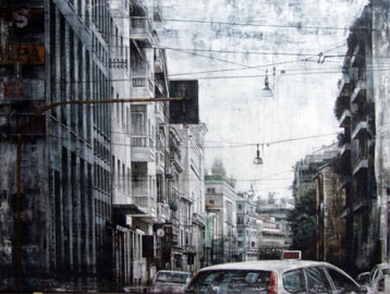 Walter Trecchi, Città sospesa LI, 150x200 cm, 2007