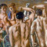 Giorgio De Chirico, Gladiatori, Olio su tela 90x115cm