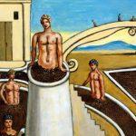 Giorgio De Chirico, Bagni misteriosi, 1968, olio su tela, 73 x 93 cm