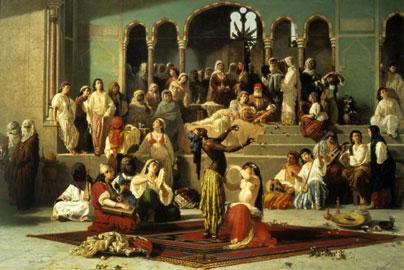 Vincenzo Marinelli, Il ballo dell'ape nell'harem, olio su tela, 186 x 269, Napoli, Museo di Capodimonte