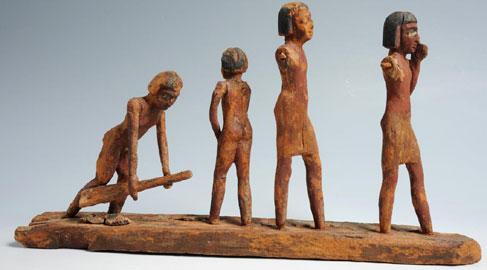 Modellino ligneo con scena di agricoltura. Soprintendenza per i Beni Archeologici del Piemonte e del Museo Antichità Egizie
