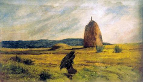 Giovanni Fattori, La fascinaia, Olio su tela, 55x94,5 cm