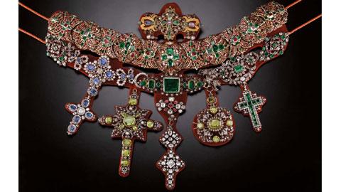 Michele Dato, Collana di San Gennaro, 1679-1879, oro, argento, gemme, costruzione di gioielleria