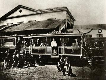 Pio IX raggiunge Castel Gandolfo utilizzando, per la prima volta, il treno, Stazione di Velletri (Roma), 11 marzo 1863, Courtesy e/o Copyright Fototeca Storica Nazionale Ando Gilardi