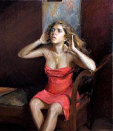 Ramiro Sanchez, Il Cuore della terra vuole sempre fiorire, 2010, olio su tela, 130x100 cm, Collezione dell'Artista