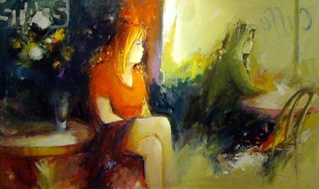 Giuliano Trombini, L'attesa, cm. 100x60