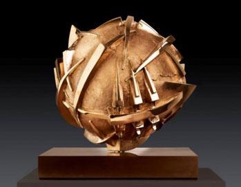 Arnaldo Pomodoro, Sfera, 2004, ø 36,5 cm, bronzo
