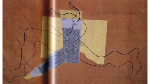 Pablo Picasso, Minotaure, 1935, Wool and silk tapestry (Gobelin workshop), 142 x 237 cm Antibes, Musée Picasso © Archives du musée Picasso, Antibes ©Succession Picasso, by SIAE 2011