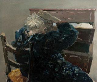 Letizia Fornasieri, Margherita vedeva altre cose, 2010, 110x130, olio su tavola