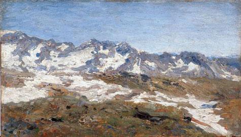 Beppe Ciardi, Col d'Olen, Olio su tela 50x28 cm, Fondazione Domus