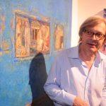 Sgarbi all'inaugurazione della mostra nella sede calabrese del Padiglione Italia - Foto di Diego Pirozzolo
