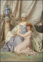 Ritratto di Anita Vollert de' Ghislanzoni e Maddalena Parodi Vollert