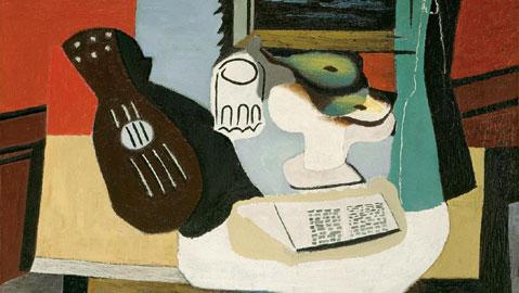 Pablo Picasso: Mandolino, bicchiere e fruttiera, 1924 Olio su tela, cm 97,5 x 130,5 Zurigo, Kunsthaus. Pablo Picasso © Succession Picasso, by SIAE 2011