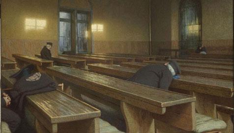 Angelo Morbelli, Giorno di festa al Pio Albergo Trivulzio, 1892 Parigi, Museo d'Orsay © RMN (Musée d'Orsay) / Hervé Lewandowski