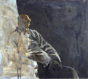 Carlo Mattioli: Auoritratto al chiaro di luna, 1971