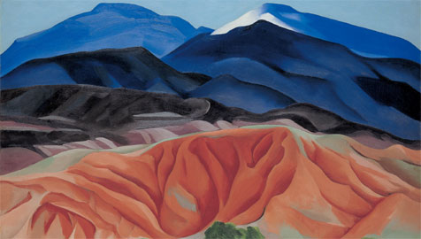 Georgia O'Keeffe, Black Mesa Landscape, New Mexico / Out Back of Marie's II (Paesaggio di Black Mesa, New Mexico / Dietro la casa di Marie II), 1930, Olio su tela montata su tavola, 61,6 x 92,1 cm, Santa Fe, Georgia O'Keeffe Museum Dono della Burnett Foundation © 2009 Georgia O'Keeffe Museum / © Georgia O'Keeffe by SIAE 2011