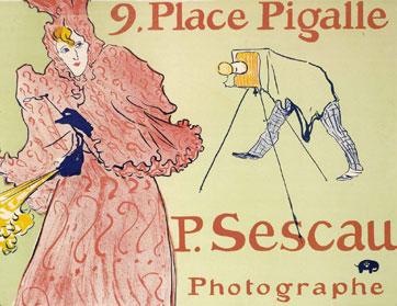 Henri de Toulouse Lautrec, Le photographe Sescau, 1896