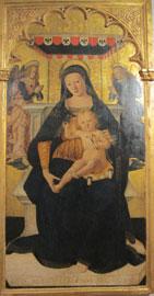 Saturnino Gatti: Madonna con il Bambino Primo decennio del XVI secolo, Tavola dipinta a tempera, 175 x 92 cm L'Aquila, Museo Nazionale d'Abruzzo