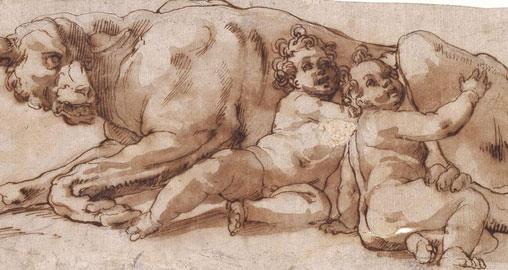 Ambito del Cavalier d'Arpino, Lupa con Romolo e Remo
