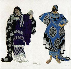 Litografia L. BAKST fedra (Candeloro)