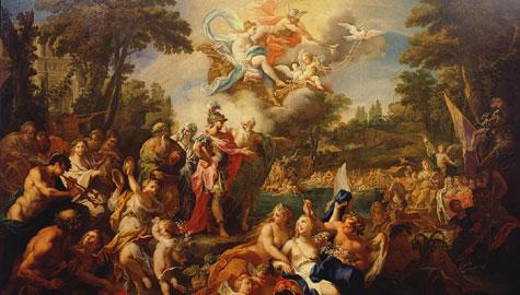 Sebastiano Conca: Enea nei campi Elisi olio su tela, 220x330 cm