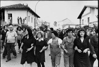 Torino, 1980. Corteo ai Tetti Francesi