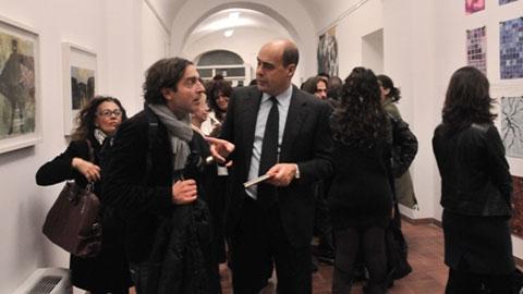 """Il Presidente Zingaretti all'inaugurazione della mostra """"Non è facile"""", foto di Diego Pirozzolo"""