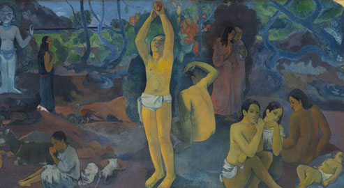 Paul Gauguin: Da dove veniamo? Chi siamo? Dove andiamo?, (part) 1897-1898 olio su tela, cm 139,1 x 374,6 Boston, Museum of Fine Arts