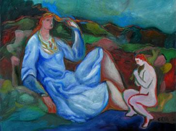 Sandro Chia, Inspiration, 2006, olio su tela, Collezione privata
