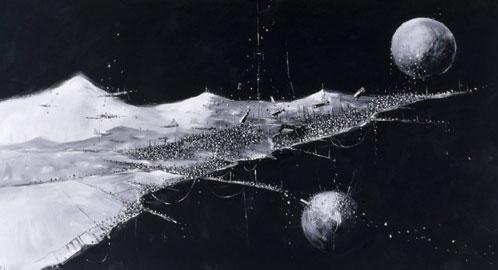 Konstantin Batynkov, Space, 2011, Vinyl paper, acrylic, Courtesy Konstantin Batynkov, © Konstantin Batynkov