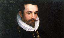 Bartolomeo Cesi, Ritratto di gentiluomo venticinquenne, 1585 circa, particolare
