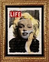 Giuliano Grittini, Marilyn Life,  tecnica mista su carta, cm 73,2 x 53