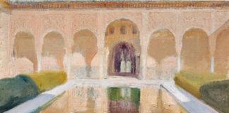 Joaquín Sorolla: Patio de Comares, Alhambra, 1917 Olio su tela, cm 84,5 x 106,5 Madrid, Museo Sorolla