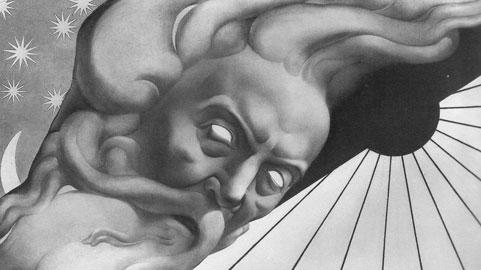 Adolfo Wildt, Luminaria, 1925, matita e carbone su carta, cm. 90x131. Milano, Courtesy of Galleria Daniela Balzaretti