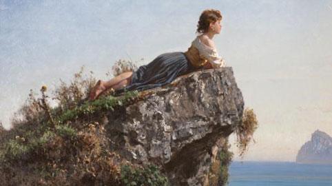 Filippo Palizzi Fanciulla sulla roccia a Sorrento, 1871 c. Olio su tela, 54,x79,5 cm Fondazione Internazionale Balzan, Milano