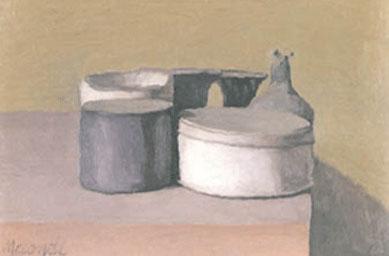 Giorgio Morandi, Natura morta, 1955, Olio su tela, 25,5 x 30,5 cm, Winterthur, Kunstmuseum Winterthur, Lascito Dr. Heinz Keller, 1984