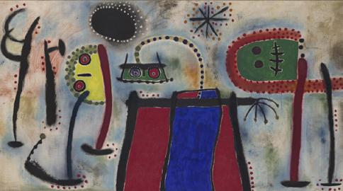 Joan Miró: Dipinto, 1953, Olio su tela 194,9 x 377,8 cm Museo Solomon R. Guggenheim, New York