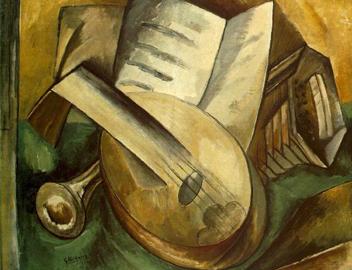Immagine tratta da Picasso & Braque Go To The Movies (2008) Braque, Musical Instruments, 1908