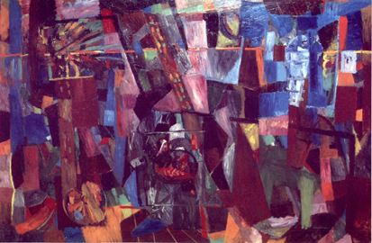 Bruno Cassinari: Apres midi a l'atelier, olio su tela, 1958