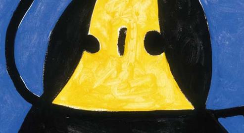 Opera di Miró, particolare
