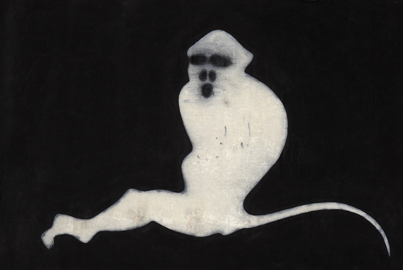 S.Ragalzi - Scimmia, Vernici industriali su tela, 300x200