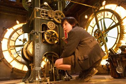 Una scena del film Hugo Cabret