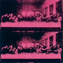 Andy Warhol, L'Ultima Cena/The Last Supper, acrilico su tela, 100 x 100 cm, Gruppo Credito Valtellinese