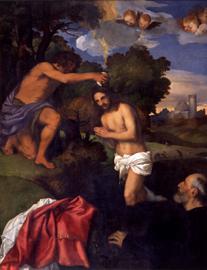 Il Battesimo di Cristo di Tiziano Vecellio
