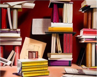Daniela Giovannetti, I castelli della conoscenza, olio su tavola cm. 80x100